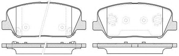 Комплект тормозных колодок, дисковый тормоз REMSA арт. 139812
