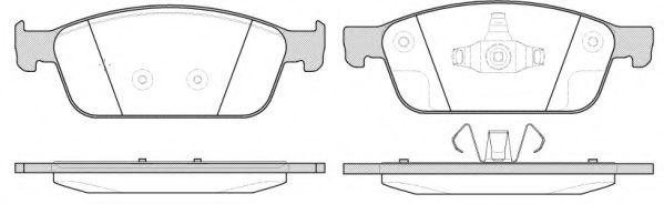 Комплект тормозных колодок, дисковый тормоз REMSA арт. 151010