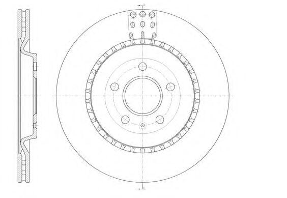 Тормозной диск REMSA арт. 6149210