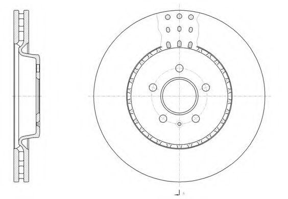 Тормозной диск REMSA арт. 6149310