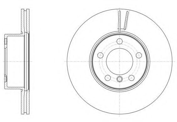 Тормозной диск REMSA арт. 6149610