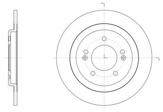 Тормозной диск REMSA арт. 6150600