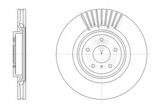 Тормозной диск REMSA арт. 6150810