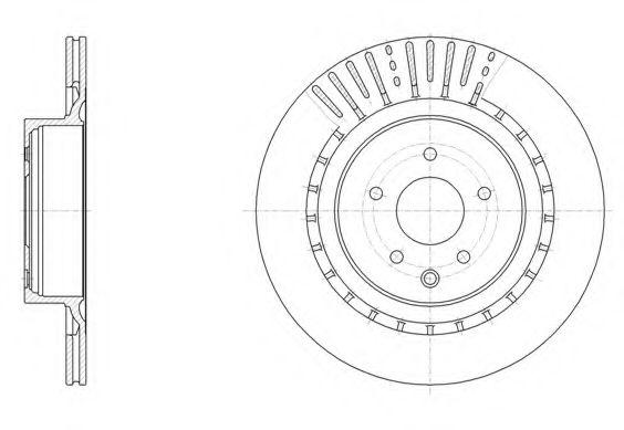 Тормозной диск REMSA арт. 6150910