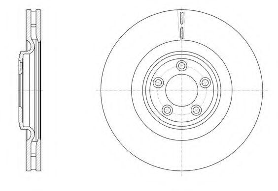 Тормозной диск REMSA арт. 6151110