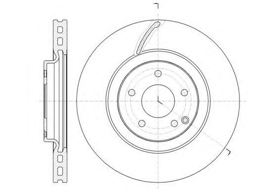 Тормозной диск REMSA арт. 6152510