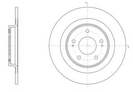 Тормозной диск REMSA арт. 6152800
