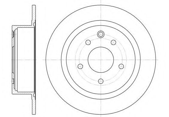 Тормозной диск REMSA арт. 6153000