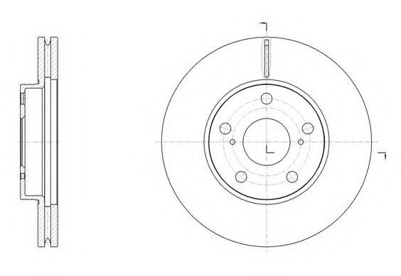 Тормозной диск REMSA арт. 6153910