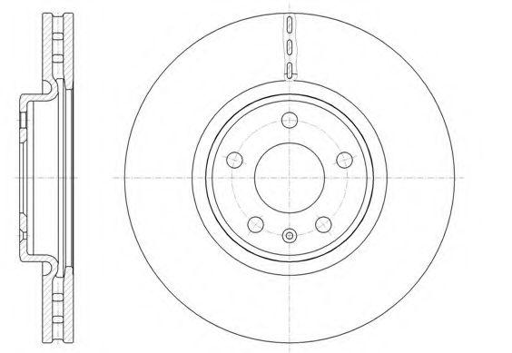 Тормозной диск REMSA арт. 6154310