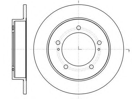 Тормозной диск REMSA арт. 6149000