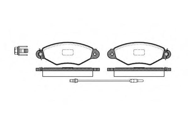 Комплект тормозных колодок, дисковый тормоз REMSA арт. 064301