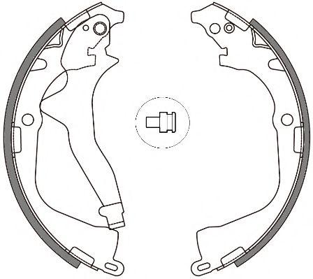 Комплект тормозных колодок REMSA арт. 464800