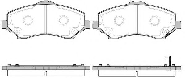 Комплект тормозных колодок, дисковый тормоз REMSA арт. 125902