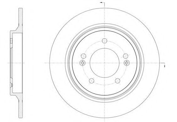 Тормозной диск REMSA арт. 6157100
