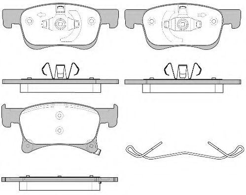 Комплект тормозных колодок, дисковый тормоз REMSA арт. 158002