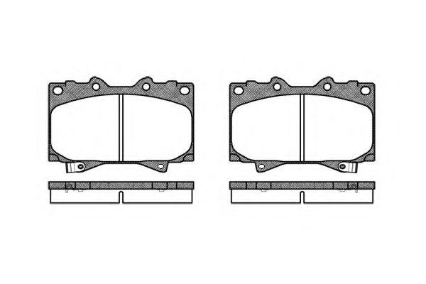 Комплект тормозных колодок, дисковый тормоз REMSA арт.