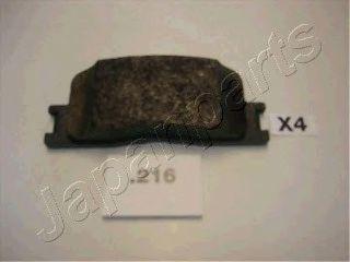 Комплект тормозных колодок, дисковый тормоз JAPANPARTS арт.