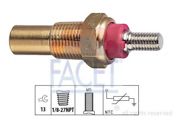 Датчик, температура охлаждающей жидкости FACET арт. 73082