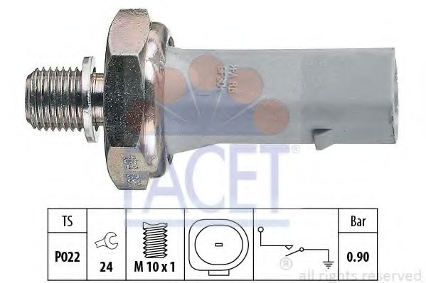 Датчик давления масла FACET арт. 70134
