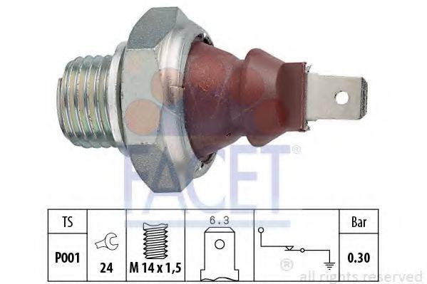 Датчик давления масла FACET арт. 70023