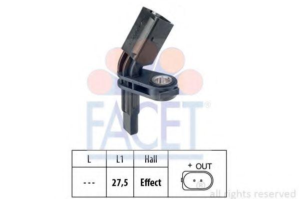 Датчик, частота вращения колеса FACET арт. 210007
