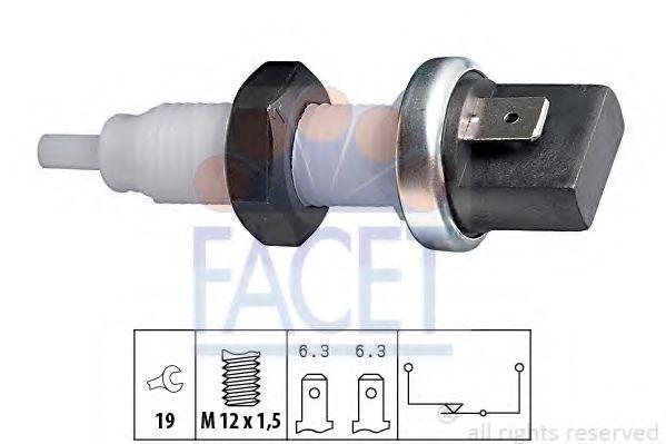 Выключатель фонаря сигнала торможения FACET арт. 71000