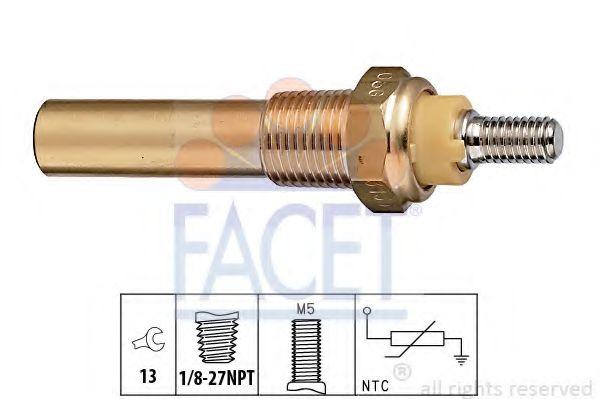 Датчик, температура охлаждающей жидкости FACET арт. 73135