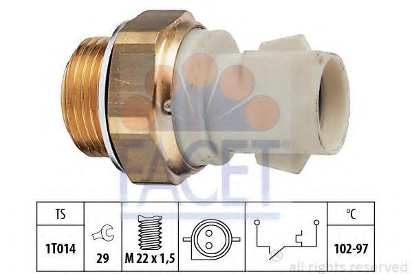 Термовыключатель, вентилятор радиатора FACET арт. 75137