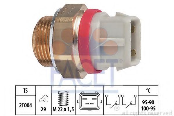 Термовыключатель, вентилятор радиатора FACET арт. 75682