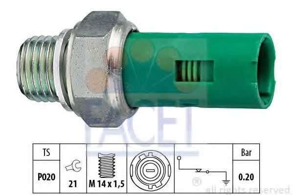 Датчик давления масла FACET арт. 70131