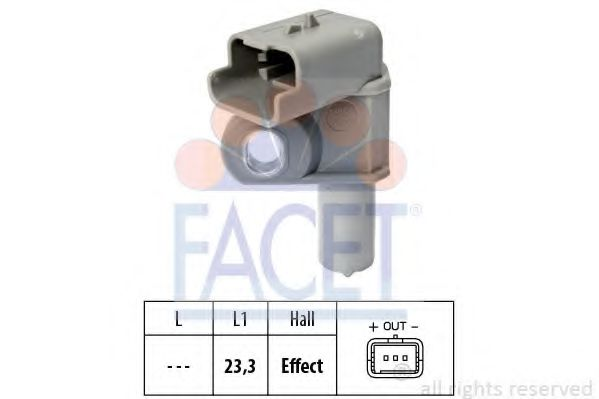 Датчик, положение распределительного вала FACET арт. 90632