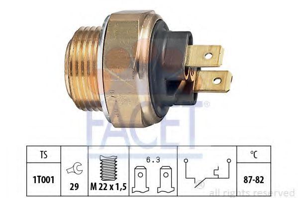 Термовыключатель, вентилятор радиатора FACET арт. 75017