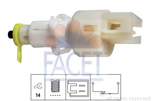 Выключатель фонаря сигнала торможения FACET арт.