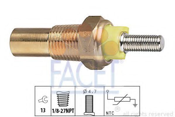 Датчик, температура охлаждающей жидкости FACET арт. 73028