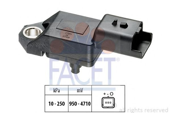 Датчик давления воздуха, высотный корректор FACET арт. 103034