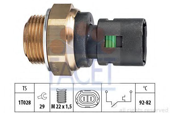 Термовыключатель, вентилятор радиатора FACET арт. 75128