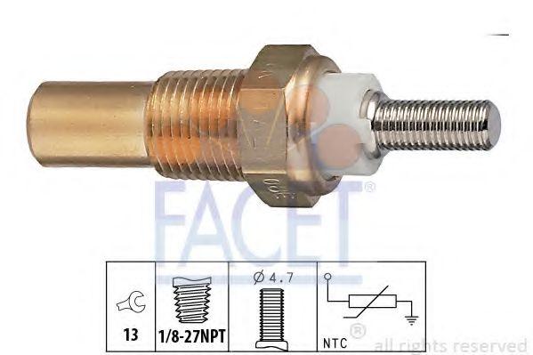 Датчик, температура охлаждающей жидкости FACET арт. 73010