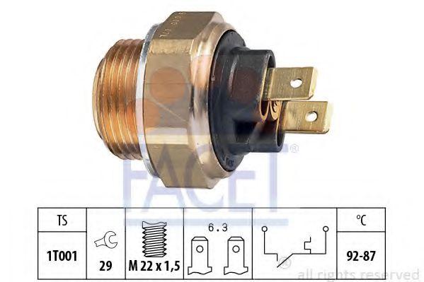 Термовыключатель, вентилятор радиатора FACET арт. 75000