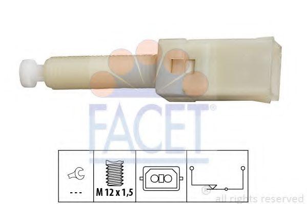 Выключатель фонаря сигнала торможения FACET арт. 71087
