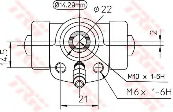 Колесный тормозной цилиндр TRW арт. BWA108