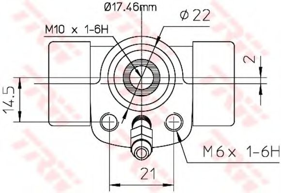 Колесный тормозной цилиндр TRW арт. BWC107