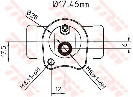 Колесный тормозной цилиндр TRW арт. BWC115