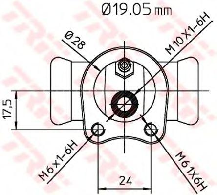 Колесный тормозной цилиндр TRW арт. BWD119