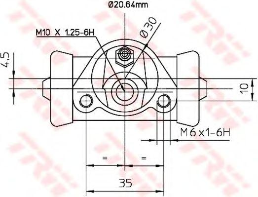 Колесный тормозной цилиндр TRW арт. BWF150