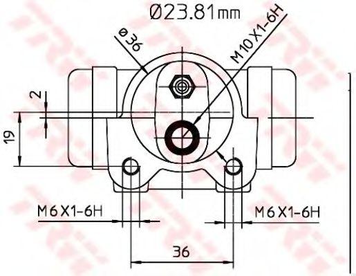 Колесный тормозной цилиндр TRW арт. BWK224