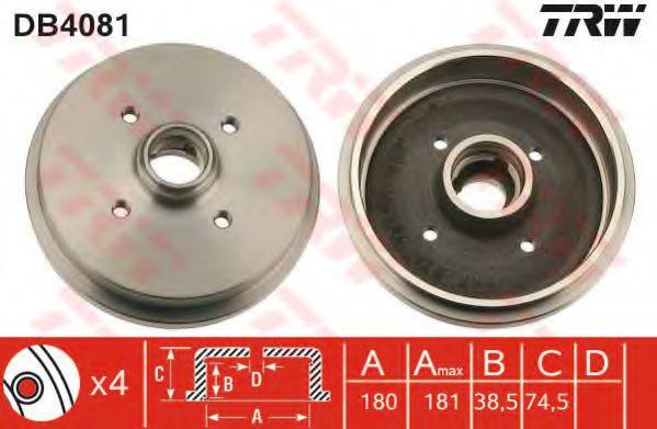 Тормозной барабан TRW арт. DB4081