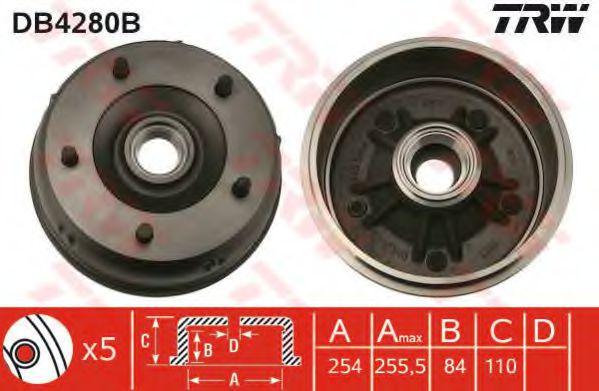 Тормозной барабан TRW арт. DB4280B