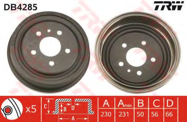 Тормозной барабан TRW арт. DB4285
