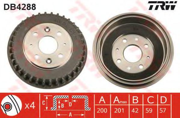 Тормозной барабан TRW арт. DB4288